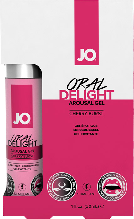 System JO Oral Delight stimulating gel for oral sex - Cherry