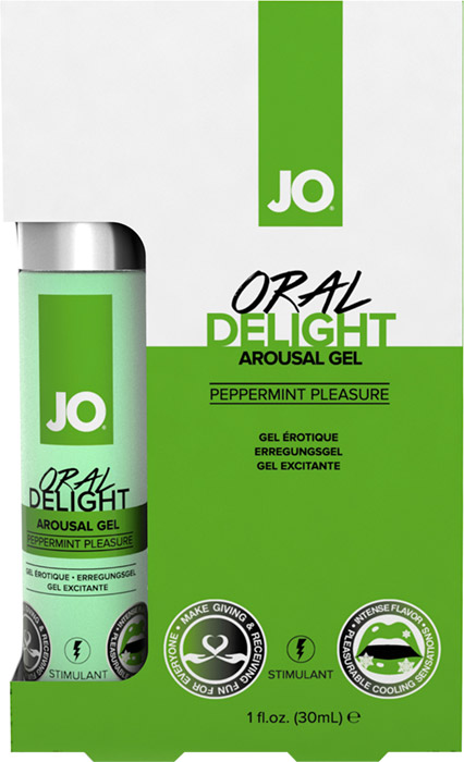 System JO Oral Delight stimulating gel for oral sex - Mint