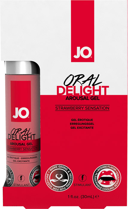 System JO Oral Delight stimulating gel for oral sex - Strawberry