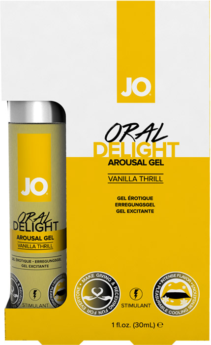 System JO Oral Delight stimulating gel for oral sex - Vanilla