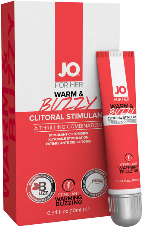 Gel stimulant pour clitoris System JO Warm & Buzzy - 10 ml