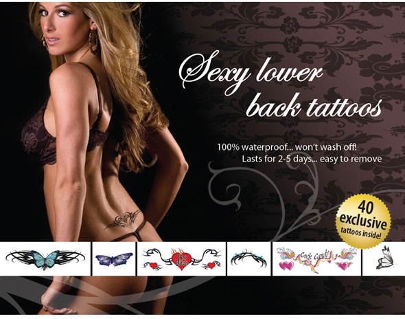 "Adult Body Art ""Sexy Lower Back"" - Tattoo Set"