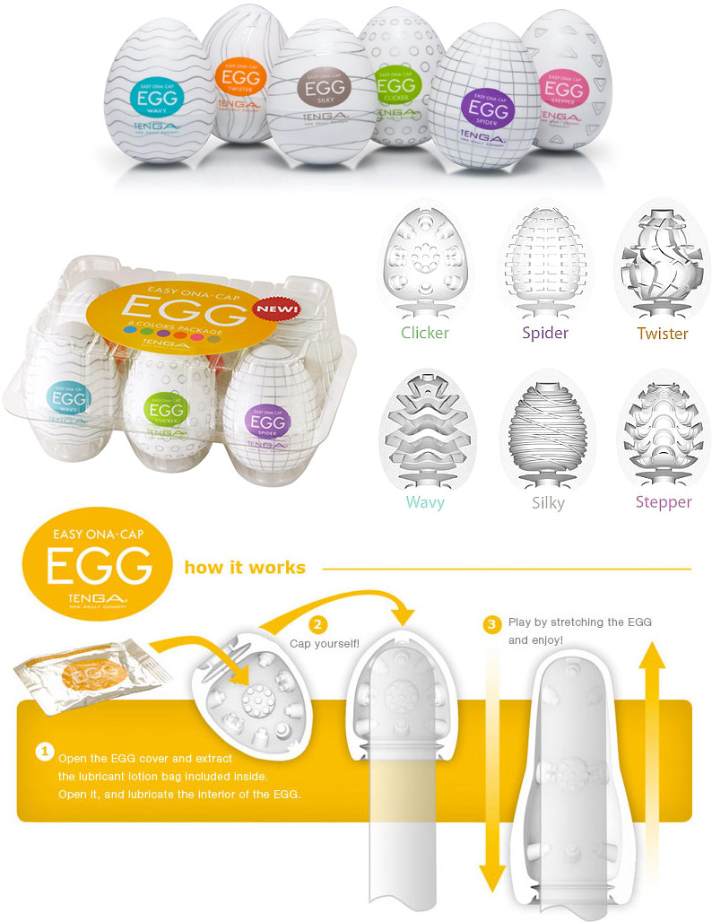Tenga Eggs Masturbators - Combo Pack 1 (pack of 6)