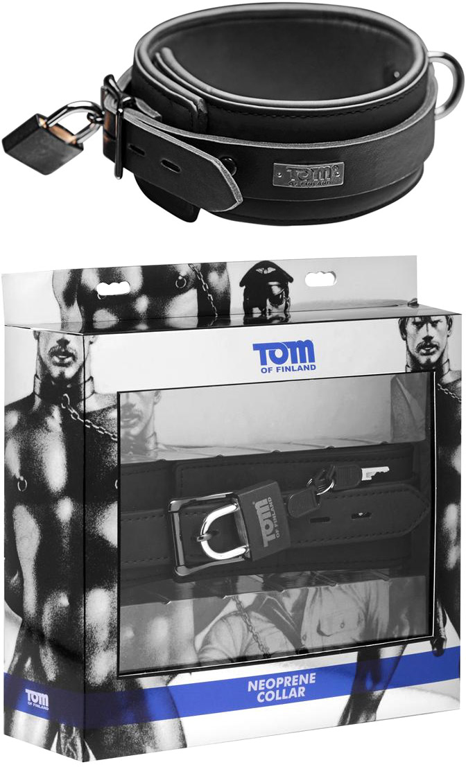 Tom of Finland sicheres Halsband aus Neopren
