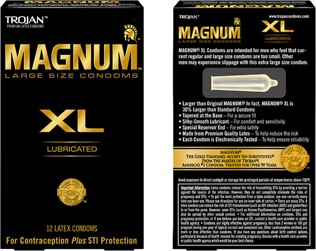 Trojan Magnum XL Condom (12 Condoms)