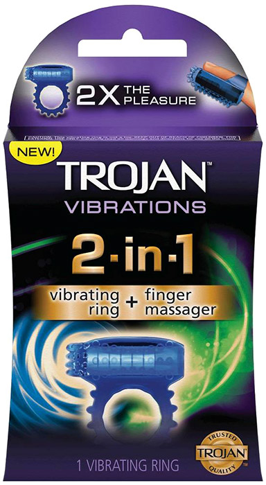 Trojan 2-in-1 Vibrations vibrierender Ring & Finger