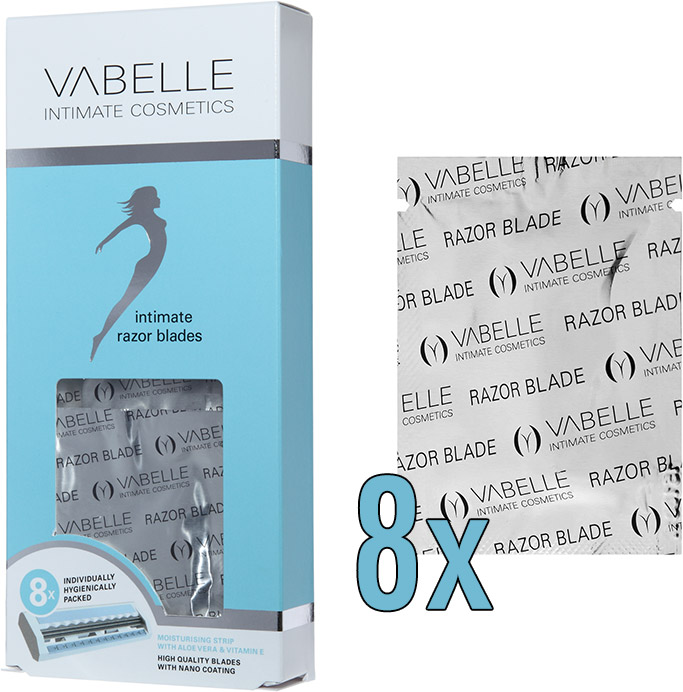 Replacement blades for Vabelle Intimate Shaver (8 blades)
