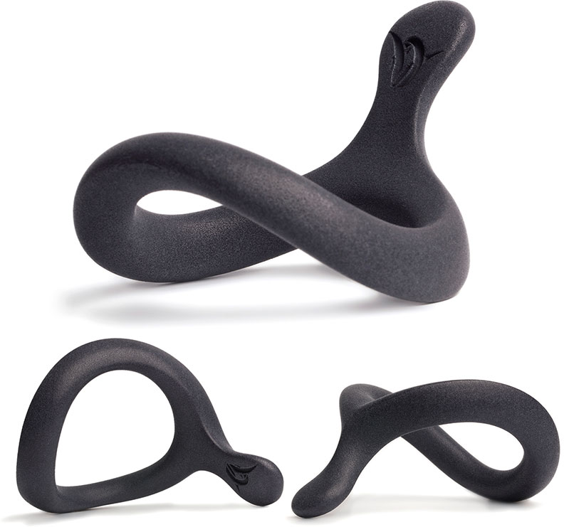 Velv'Or JNaja Cock Ring - 43 mm - Black