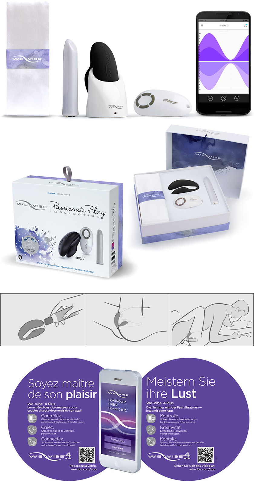 Coffret cadeau We-Vibe Passionate Play Collection