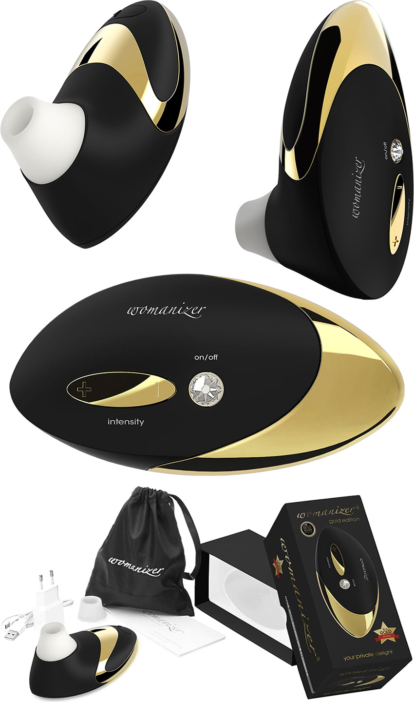Stimulateur clitoridien Womanizer Pro W500 - Or