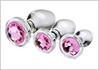 Booty Sparks Pink Gem anal training set (3 pieces)