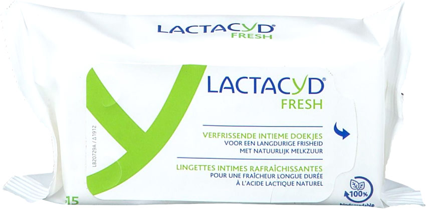 Lactacyd Fresh Intimate Cleaning Wipes (15 wipes)