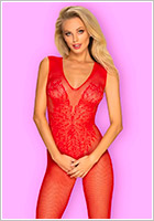 Obsessive Bodystocking N112 - Red (S/M/L)