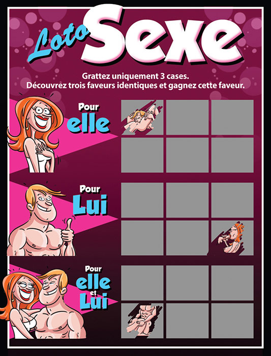 """Carte à gratter """"Loto Sexe"""" (French)"""