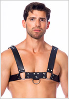 Rimba men's harness in genuine leather with loops (M/XL)
