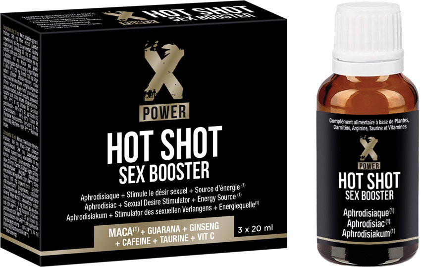 XPower Hot Shot Sex Booster drinkable sexual stimulant - 3 x 20 ml